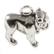 Bulldog 3D Sterling Silver Charms